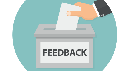Placing note in feedback box