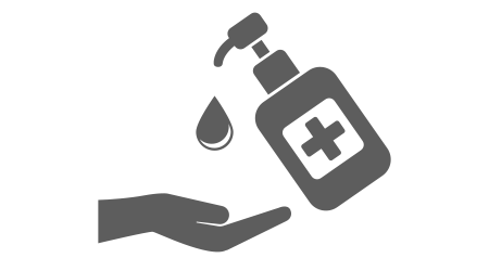 Hand sanitizer icon in trendy flat style isolated on white background