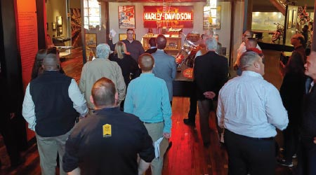 Harley-Davidson Hosts group of cleaning industry experts