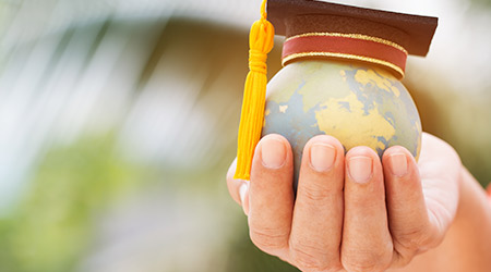 Graduate or Education knowledge learning study international abroad concept