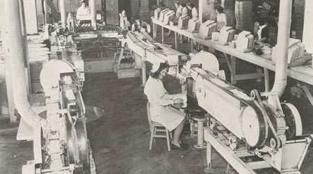 Very old picture of women doing work