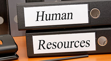 """Two binders that read """"Human Resources"""""""