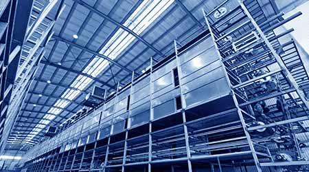 Industrial building interior architecture