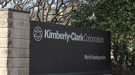 Main entrance to world headquarters of Kimberly-Clark