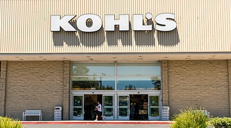 Kohl's store entrance at one of their locations in South San Francisco