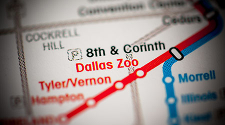 Map of where Dallas Zoo is located