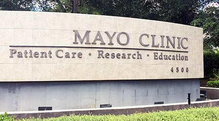 Entrance to the Jacksonville campus of the world famous Mayo Clinic