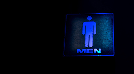 blue light men's Labels in night