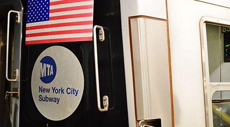 New York City MTA Sign Subway Train Car NYC Transportation