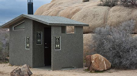 Outdoor Restroom in Joshua Tree National Park