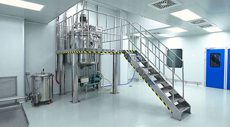 Pharmaceutical plant for the production of medicines
