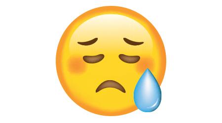 Emoticon. Sad face.