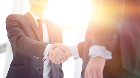 handshake business partners after bargain