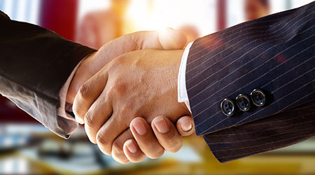 shot of businessmen handshaking.acquisition concept