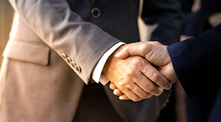 Handshake for business deal