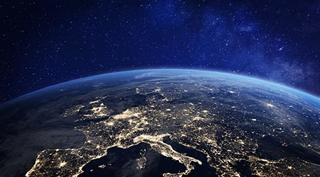A view of Europe from space