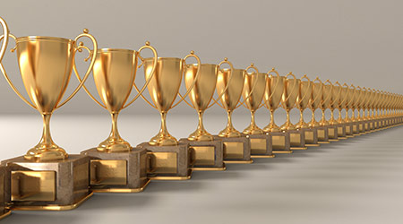 gold cups- award for winners
