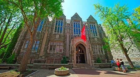 Temple University building in Philadelphia, Pennsylvania