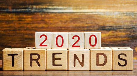 2020 Trends Written out in blocks