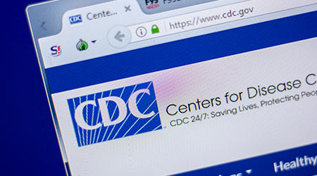 A picture of the CDC website