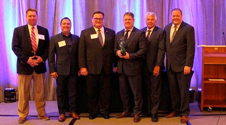Men from Spartan Chemical Company who won award
