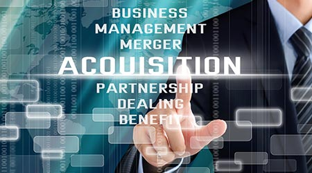 Business acquisition graphic