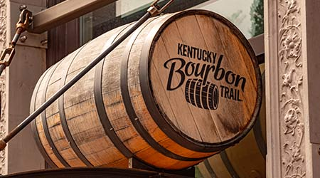 Bourbon Barrels in Louisville Kentucky - LOUISVILLE, KENTUCKY - JUNE 14, 2019
