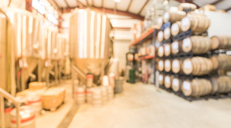 Blurred image of a distillery