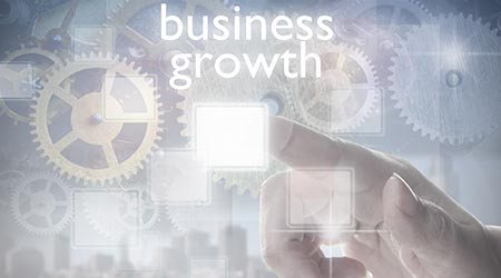 A vector image depicting business growth