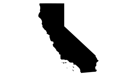 Detailed vector outline of the state of California