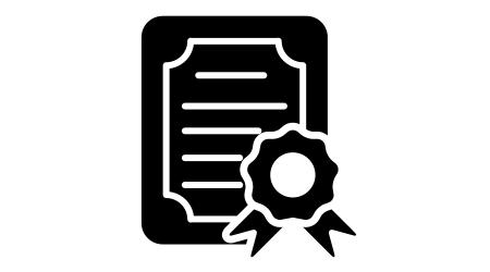 certificate icon design vector template