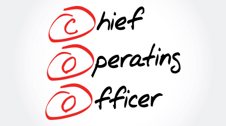 COO - Chief Operating Officer, acronym business concept background  D