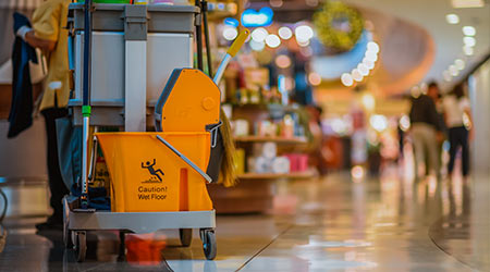 Shopping mall cleaning equipment.