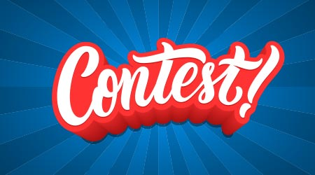 "Vector image of the word ""contest"""