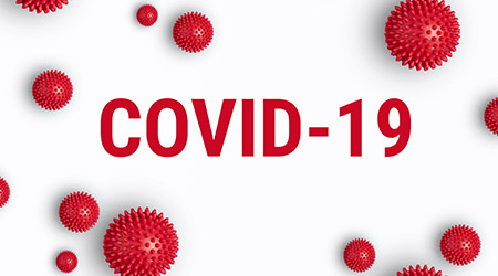 COVID-19 written in red against white background