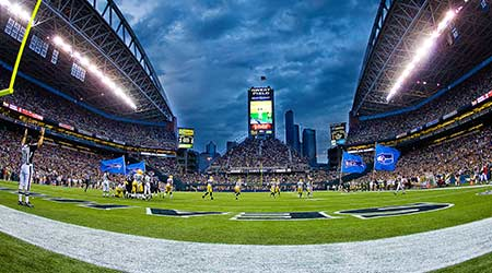 Seattle Seahawks play the NFL Champion Green Bay Packers at Century Link Field formerly known as Qwest Field during a Football Game August 21, 2010 in Seattle, Washington.  M