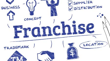 vector imaging of a sketch depicting what goes into becoming a franchisee