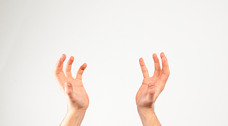 A person's hands
