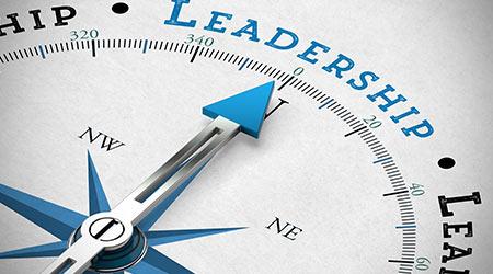 """Leadership"" written on a compass"