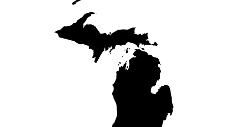A vector image of Michigan