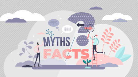 A vector image asking whether something is a myth or fact