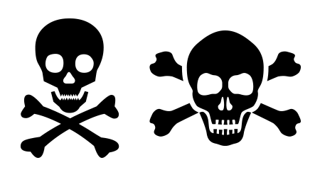 Vector image depicting poisoning