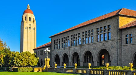 Stanford University's iconic Hoover Tower