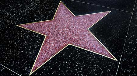Empty star on the Hollywood Walk of Fame
