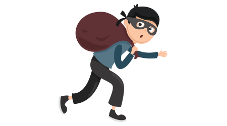 Vector Illustration Of Thief