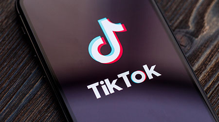 A phone with the Tik Tok app
