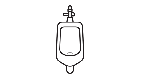 Vector image of a urinal