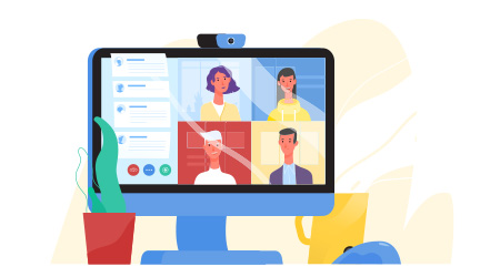 Virtual conference or web chat