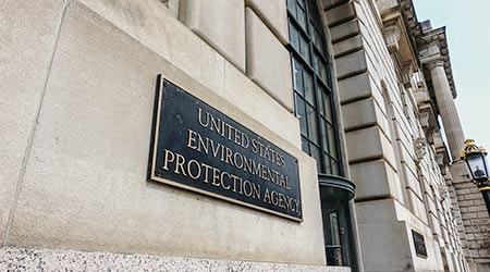 Sign outside of the EPA's offices