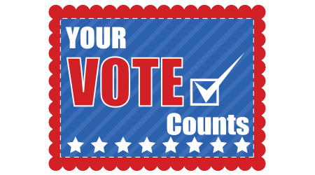 Your vote counts on a red, white and blue stamp